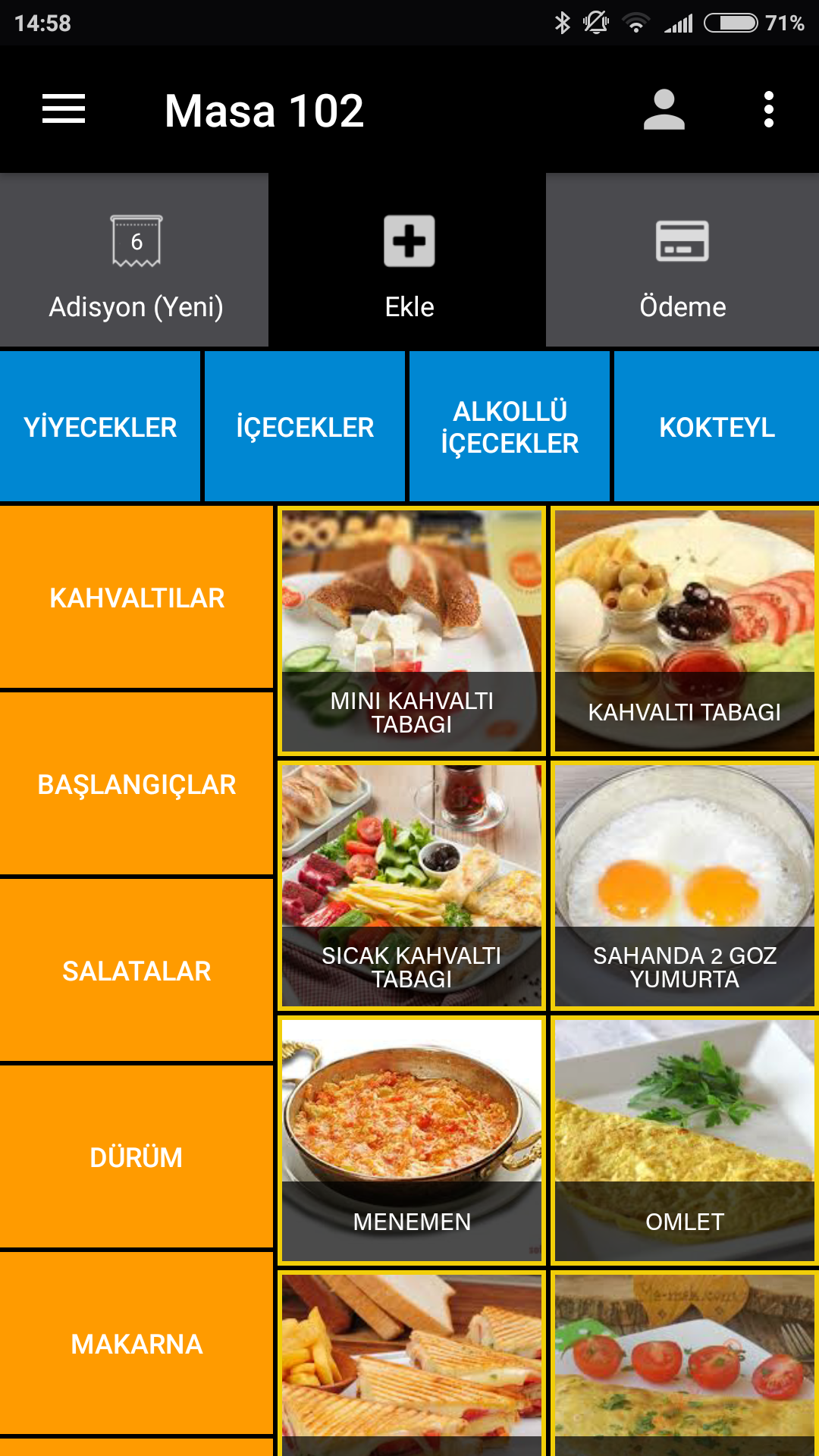 Restaurant Mobil Çözümler